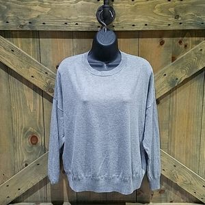 MAGASCHONI GRAY CLASSIC ESSENTIAL SWEATER